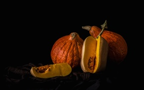 Picture background, pumpkin, still life