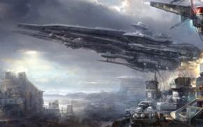 Picture the city, planet, ships, civilization