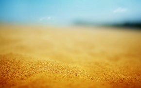 Wallpaper the sun, macro, stay, beach, sand