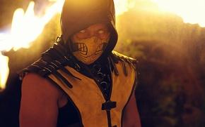 Wallpaper Yellow, Scorpion, Kombat, Mortal, Mask, Cosplay, MKX