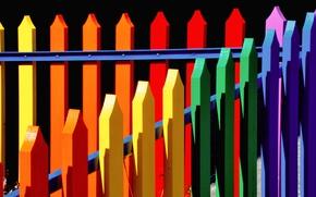 Picture paint, the fence, color, texture