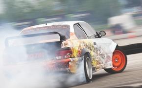 Picture car, BMW, drift, smoke, photo, race, burnout, e36, MMaglica photo, MMaglica, tire, burn, Šuštaršič