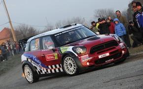 Picture Red, People, Mini Cooper, WRC, Rally, MINI, Dani Sordo, Mini Cooper, Carlos del Barrio