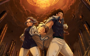 Picture magic, art, Gajeel Redfox, FAIRY TAIL, Levy McGarden, Blanania