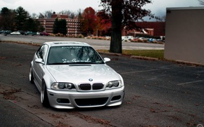 Picture bmw, BMW, turbo, tuning, power, front, face, germany, low, stance, e46