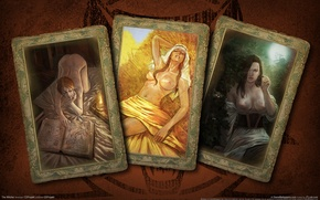 Wallpaper card, girls, the Witcher