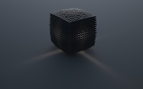 Picture light, the explosion, minimalism, logo, Cube