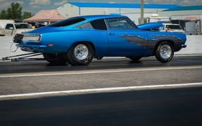 Picture race, muscle car, Barracuda, Plymouth Barracuda, drag racing