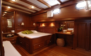 Picture style, cabin, interior, yacht, Suite, design