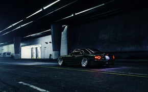 Picture Dark, Mazda, Green, Road, Stance, Low, MX-5, Rear, Nigth