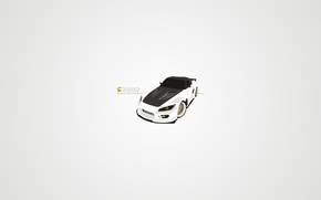 Picture white, gold, carbon, honda, drives, tuning, art, gills, s 2000