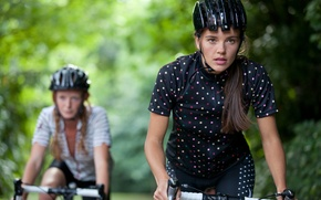 Picture sport, mountain bikes, cyclists