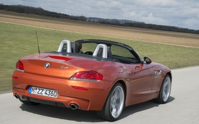 Picture road, field, bmw, convertible