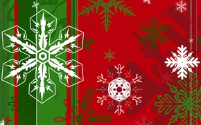 Picture winter, holiday, pattern, paint, New Year, Christmas, snowflake