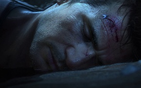 Picture fly, Water, Light, Blood, Jungle, Wounds, Nathan Drake, Uncharted 4: A Thief's End