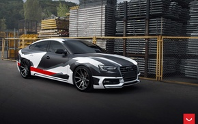Picture Audi, Vossen, Wheels, 2015, Graphite, VFS-1