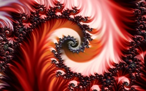 Picture pattern, Red, fractal