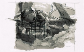 Wallpaper Sketch, The plane, The rise