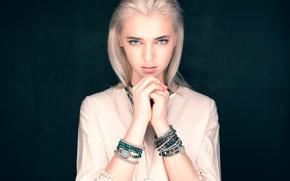 Picture look, girl, portrait, bracelets, blue-eyed, The Photo Fiend