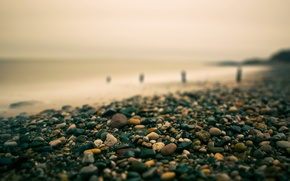 Picture sea, stones, smooth