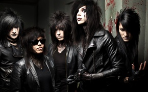 Picture music, group, post-hardcore, Black Veil Brides, BVB, Jinxx, Jake Pitts, Andy Biersack, Ashley Purdy, melodic …