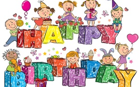 Picture Happy Birthday, Birthday, Congratulations, Childhood