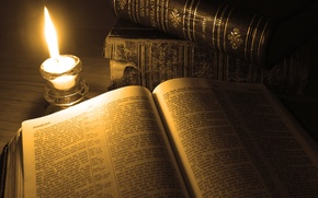 Picture fire, candle, Book, page