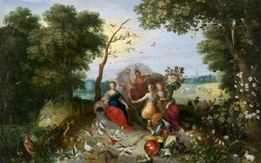 Picture picture, Jan Brueghel the younger, Allegory Of The Four Elements