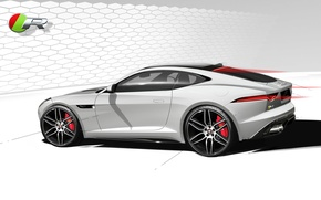 Picture car, figure, Jaguar, F-Type, R Coupe