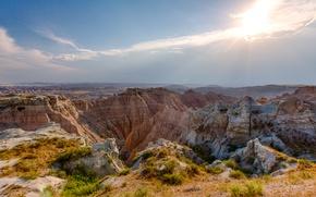 Picture nature, rocks, canyon, Badlands, South Dakota