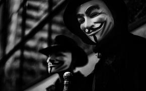 Wallpaper photo, background, the film, Wallpaper, mask, h\b, character, V for Vendetta, V for Vendetta