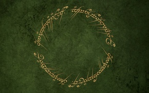 Wallpaper round, green, ring, the Lord of the rings