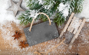 Picture snow, decoration, tree, Christmas, decoration, Merry, Christmas. New Year