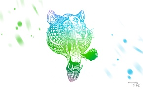 Picture eyes, tiger, tiger, print, parallels, prlls