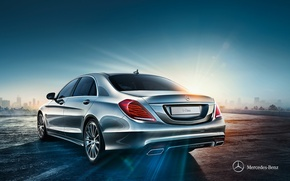 Picture Mercedes-Benz, 2013, Rear view, S-Class