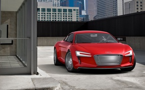 Wallpaper cement, e-tron, audi, building, tuning