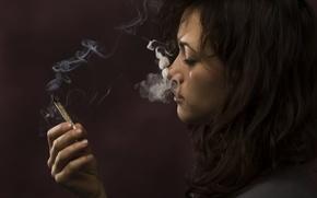 Picture smoke, woman, marijuana