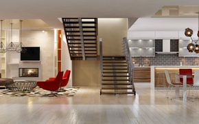 Picture Design, Ladder, Interior, Living room, Chairs