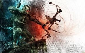 Picture bow, arrow, nanosuit, crysis 3, crytek, the prophet
