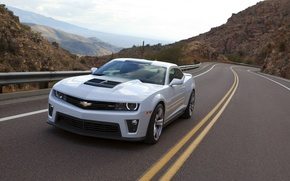 Picture mountains, Chevrolet, Camaro, Track, ZL1
