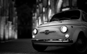 Picture Fiat, Retro, Machine, Retro, Fiat 500, Gran Turismo