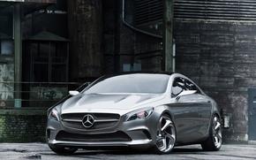 Picture auto, silver, coupe, concept, the concept, 2012, sedan, drives, mercedes-benz, Mercedes, Mercedes CSC