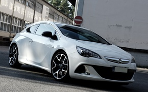 Picture Opel, White, Astra, Opc