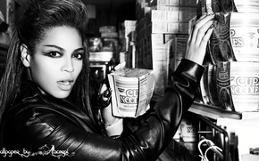 Picture girl, black and white, beyonce, Beyonce, African-American, Knowles, noodles
