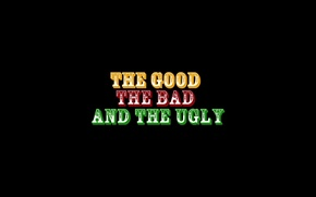Picture the film, logo, evil, logo, brand, bad, Clint Eastwood, Good, minimalism., the role, Lee Van …