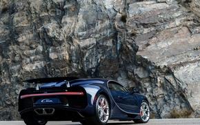 Picture auto, Bugatti, Bugatti, back, hypercar, exhausts, Chiron