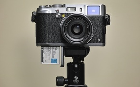 Picture background, lens, matrix, tripod, aperture, viewfinder, self-timer, Fujifilm X100S, digital camera