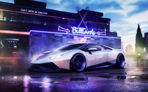 Picture Lamborghini, Shark, Front, Bull, Liberty Walk, Huracan