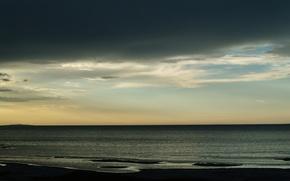 Wallpaper sea, the sky, clouds