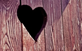 Picture macro, heart, the door